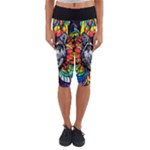 Wolf - Capri Yoga Leggings