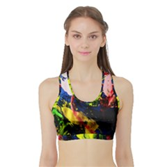 Global Warming 2 Sports Bra With Border by bestdesignintheworld