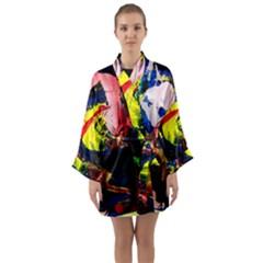 Global Warming 2 Long Sleeve Kimono Robe by bestdesignintheworld