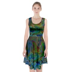 Rainbow Patern Color Racerback Midi Dress