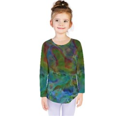 Rainbow Patern Color Kids  Long Sleeve Tee