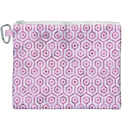 Hexagon1 White Marble & Pink Marble (r) Canvas Cosmetic Bag (xxxl) by trendistuff