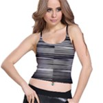 Stripes Spaghetti Strap Bra Top