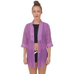 Mod Twist Stripes Pink And White Open Front Chiffon Kimono by BrightVibesDesign