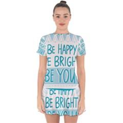 Motivation Positive Inspirational Drop Hem Mini Chiffon Dress by Sapixe