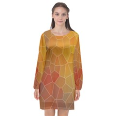 Colors Modern Contemporary Graphic Long Sleeve Chiffon Shift Dress  by Sapixe