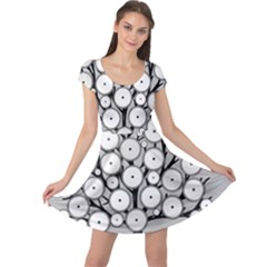 Gears Tree Structure Networks Cap Sleeve Dress