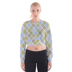 Background Paper Texture Motive Cropped Sweatshirt by Sapixe