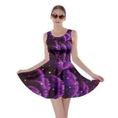 Purple Feathers And Stars Skater Dress by chihuahuadresses