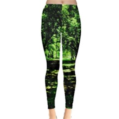 Hot Day In Dallas 26 Leggings  by bestdesignintheworld