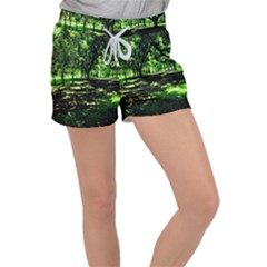 Hot Day In Dallas 26 Women s Velour Lounge Shorts by bestdesignintheworld