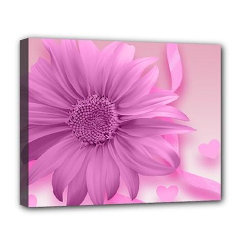 Flower Design Romantic Deluxe Canvas 20  X 16
