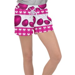Love Celebration Easter Hearts Women s Velour Lounge Shorts by Sapixe