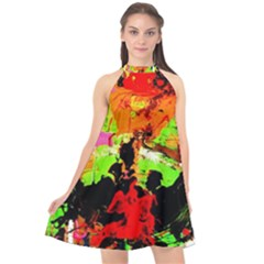 Enterprenuerial 1 Halter Neckline Chiffon Dress  by bestdesignintheworld