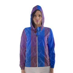 Background Desktop Squares Hooded Windbreaker (women) by Sapixe