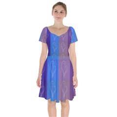 Background Desktop Squares Short Sleeve Bardot Dress