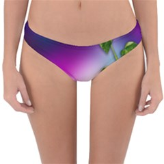Leaves Green Leaves Background Reversible Hipster Bikini Bottoms by Sapixe