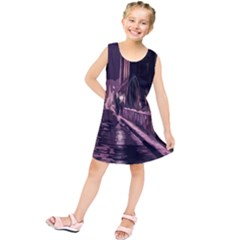 Texture Abstract Background City Kids  Tunic Dress by Sapixe