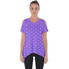 Lavender Tiles Cut Out Side Drop Tee by jumpercat