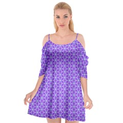 Lavender Tiles Cutout Spaghetti Strap Chiffon Dress by jumpercat