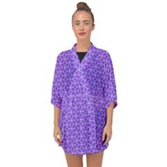 Lavender Tiles Half Sleeve Chiffon Kimono by jumpercat