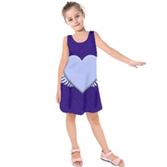 Background Texture Heart Wings Kids  Sleeveless Dress by Sapixe