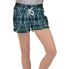Abstract Fractal Magical Women s Velour Lounge Shorts by Sapixe