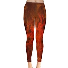 Fractal Abstract Background Physics Leggings