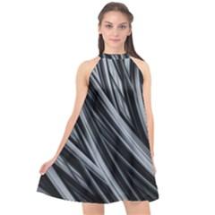 Fractal Mathematics Abstract Halter Neckline Chiffon Dress  by Sapixe