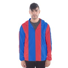 Red And Blue Hooded Windbreaker (men) by jumpercat