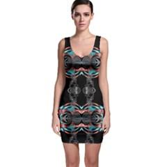 Fractal Math Design Backdrop Bodycon Dress