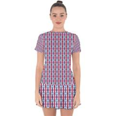 Arabic Ornament Stripes Drop Hem Mini Chiffon Dress by jumpercat