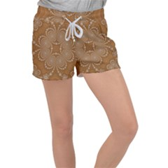 Fractal Pattern Decoration Abstract Women s Velour Lounge Shorts by Sapixe