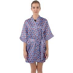 Galactic Trip Quarter Sleeve Kimono Robe