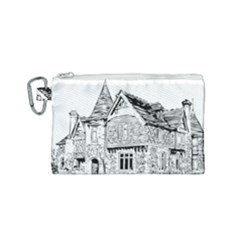 Line Art Architecture Old House Canvas Cosmetic Bag (small)