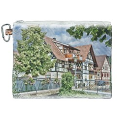 Homes Building Canvas Cosmetic Bag (xxl) by Sapixe