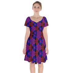 Pattern Abstract Wallpaper Art Short Sleeve Bardot Dress by Sapixe