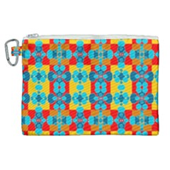 Pop Art Abstract Design Pattern Canvas Cosmetic Bag (xl) by Sapixe