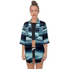 Texture Fractal Frax Hd Mathematics Open Front Chiffon Kimono by Sapixe