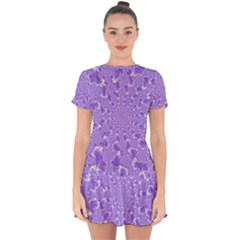 Wallpaper Mandelbrot Desktop Art Drop Hem Mini Chiffon Dress by Sapixe