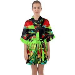 Quiet Place Quarter Sleeve Kimono Robe by bestdesignintheworld