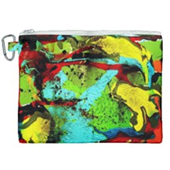 Yellow Dolphins   Blue Lagoon 6 Canvas Cosmetic Bag (xxl) by bestdesignintheworld