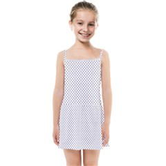 Usa Flag Blue Stars On White Kids Summer Sun Dress by PodArtist