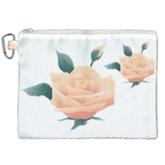 Rose Flower Nature Floral Summer Canvas Cosmetic Bag (xxl) by Sapixe
