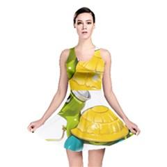 Turtle Sea Turtle Leatherback Turtle Reversible Skater Dress
