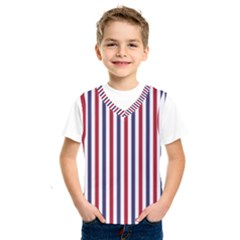 Usa Flag Red White And Flag Blue Wide Stripes Kids  Sportswear by PodArtist