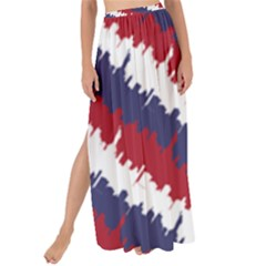 Ny Usa Candy Cane Skyline In Red White & Blue Maxi Chiffon Tie Up Sarong by PodArtist