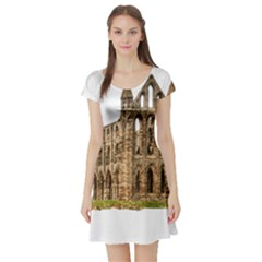 Ruin Monastery Abbey Gothic Whitby Short Sleeve Skater Dress