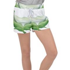 Pearl Drop Flower Plant Women s Velour Lounge Shorts by Sapixe
