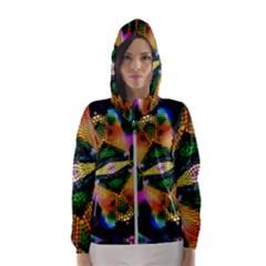 Butterfly Color Pop Art Hooded Windbreaker (women) by Sapixe